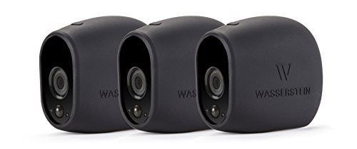 3-x-Black-Silicone-Skins-for-Arlo-Smart-Security-100-Wire-Free-Cameras-NEW