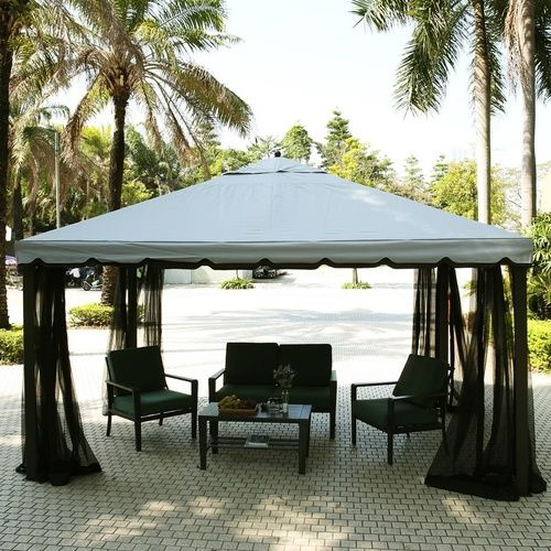 Fully Enclosed Garden Gazebo Canopy Patio Pavilion Sun Shade Party Tent with Mosquito Netting