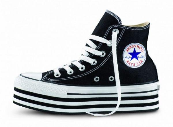 Collezione Converse alte platform FOTO  #converse #sneakers #scarpe #scarpedonna #platform #shoes #mood #trend #black