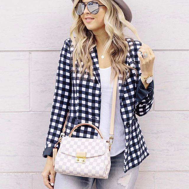 What's with the weather today Toronto?! It's freezing! Back to blazers and closed toe shoes ☹️ Happy weekend babes! http://liketk.it/2rc9n #liketkit @liketoknow.it #ootd #wiw #gingham
