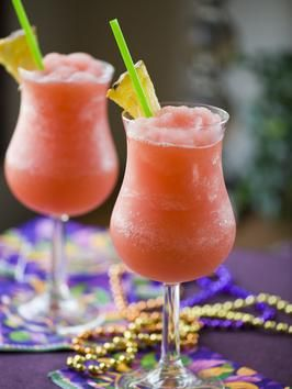 Frozen Hurricane {White Rum, Jamaican Dark Rum, Bacardi 151, Orange & Pineapple Juices, Grenadine Syrup, & Ice}