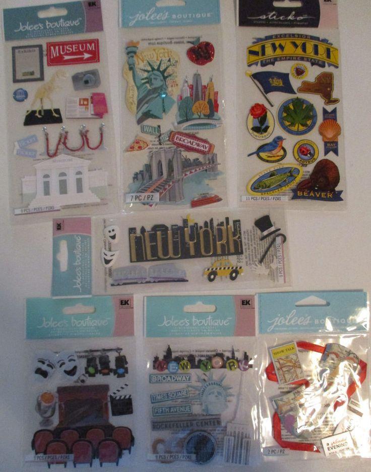 Scrapbooking Stickers Lot Jolee's Boutique NEW YORK  #JoleesBoutiqueEKSuccess