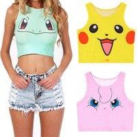 3$ Wish | Women Pokemon Tank Top Vest Pikachu Squirtle Jigglypuff