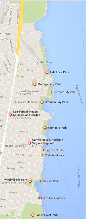 Map of Alexandria Parks