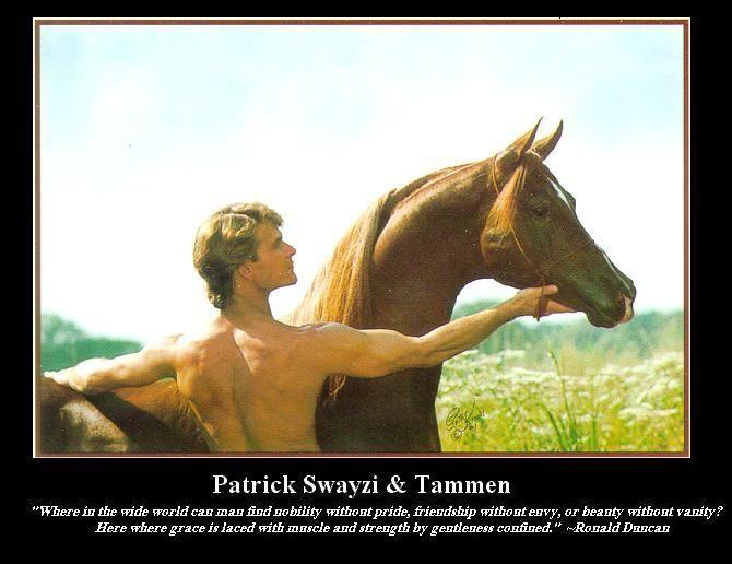 patrick swayze arabian stallion | Patrick Swayze and Tammen poster. Photograph by Polly Knoll. Click ...