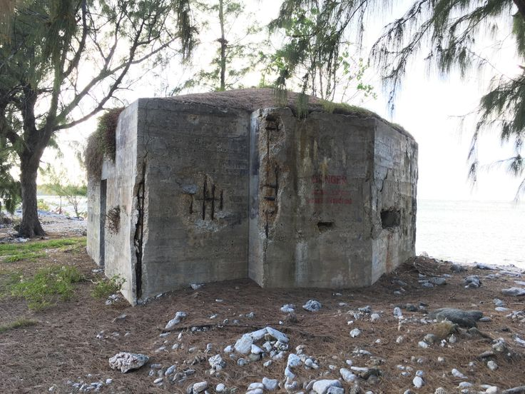 WW2 Bunker on the beach of Wake Island [1136X640] [OC]