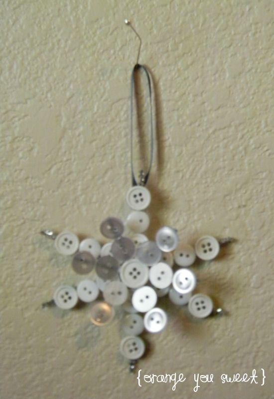 Button Snowflake Ornament