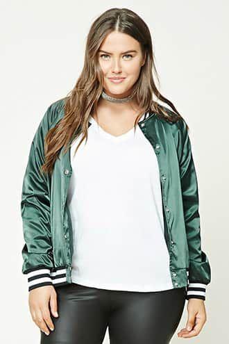 Plus Size Satin Baseball Jacket Jetzt bestellen unter: https://mode.ladendirekt.de/damen/bekleidung/jacken/sonstige-jacken/?uid=03f99c14-0fc2-5c65-8cdf-fe83cb93269f&utm_source=pinterest&utm_medium=pin&utm_campaign=boards #women's #accessories #clothing #outerwear #sonstigejacken #bekleidung #jacken Bild Quelle: forever21.com