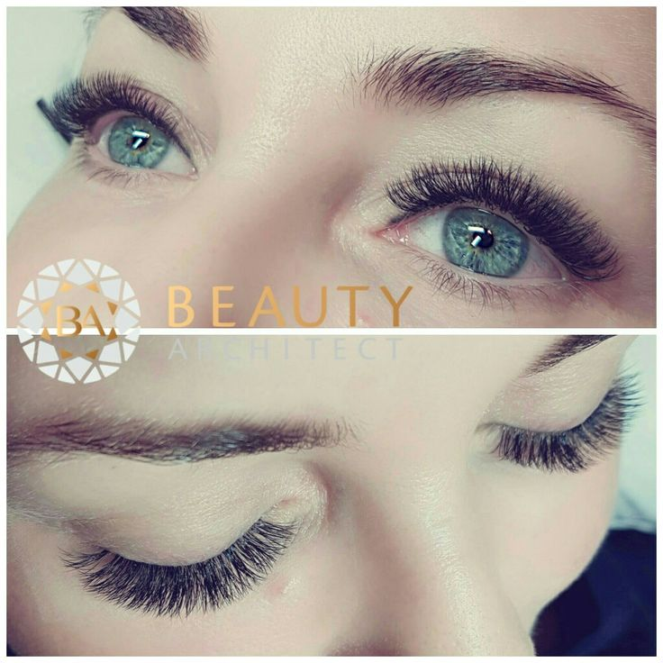 Volume eyelash extensions made with 0.07 lashes.