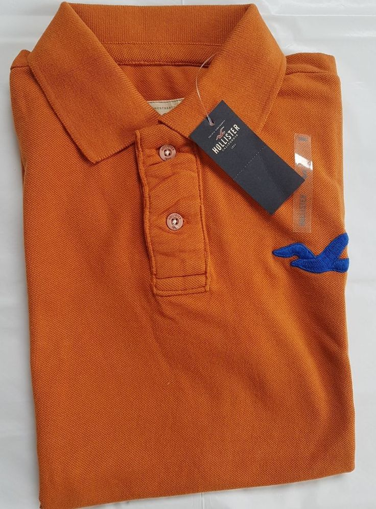 Mens' Authentic Hollister Polo Tshirt, Brand New with tags