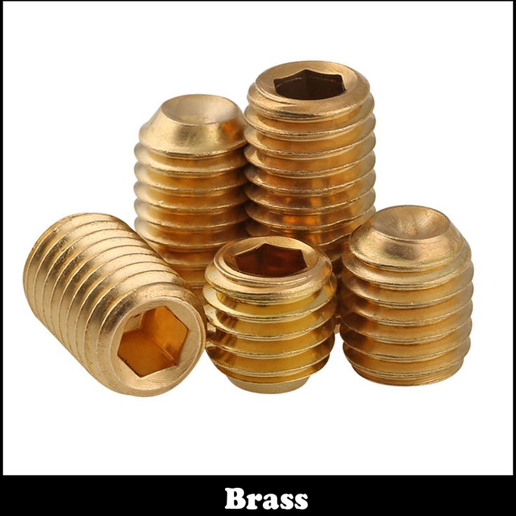 15pcs M5 M5*6 Brass Grub Screws Copper Cup Point Hexagon Hex Socket Set Screw #Affiliate