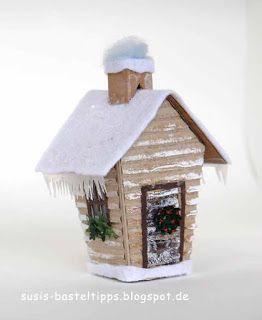 """Ein Haus für alle Fälle: Stampin' Up Framelits """"Zu Hause"""" : Blockhütte/ log cabin with Stampin Up home sweet home dies"""