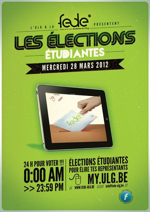 élections étudiantes  #ESR  http://www.fede-ulg.be/
