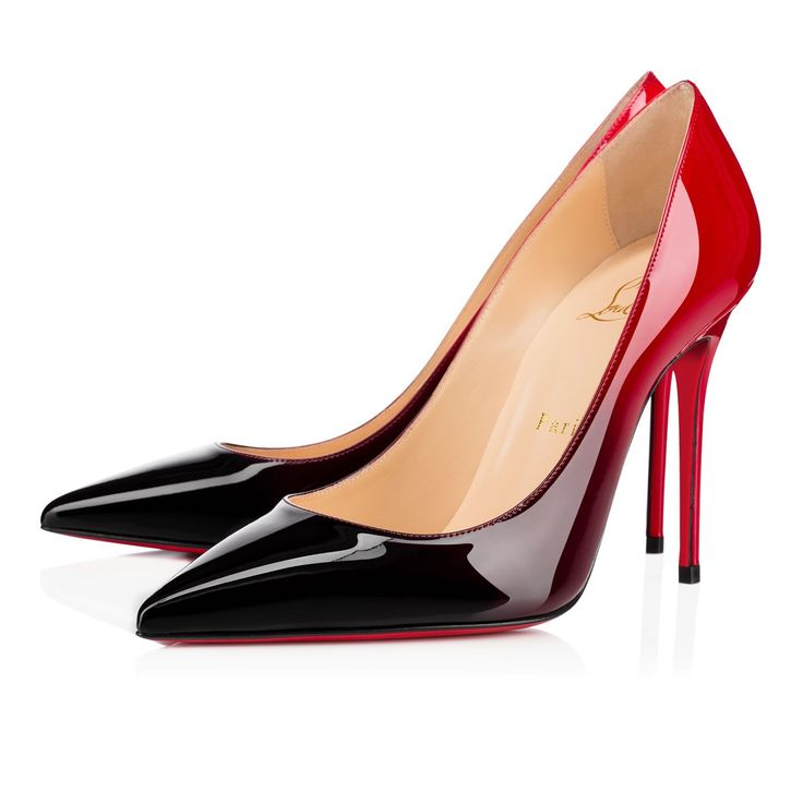 Decollete 554 100 Black-Red Patent Leather - Women Shoes - Christian Louboutin
