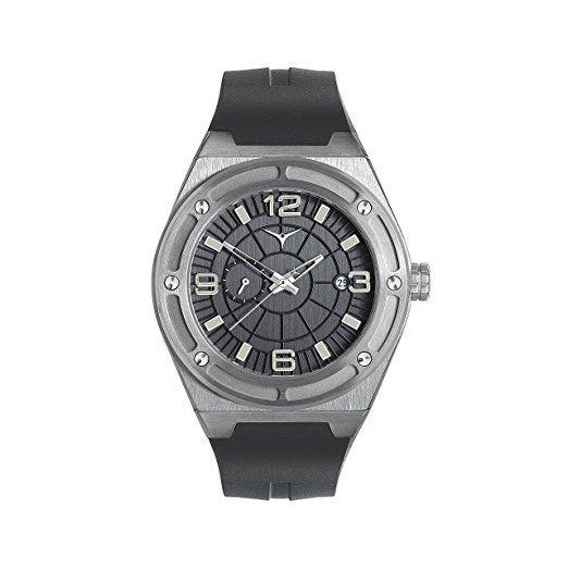 Reloj de lujo ZINVO Rival GMT para hombre con movimiento automático, correa de caucho negro y caja plateada de acero inoxidable