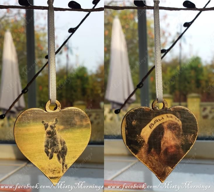 Double sided wooden Christmas decoration, children/pets/family www.facebook.com/PicMeThat