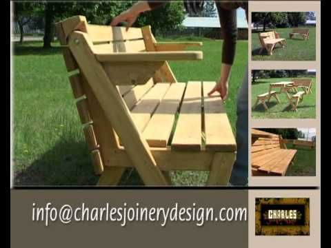 Plans Picnic Table Bench Combo - Downloadable Free Plans