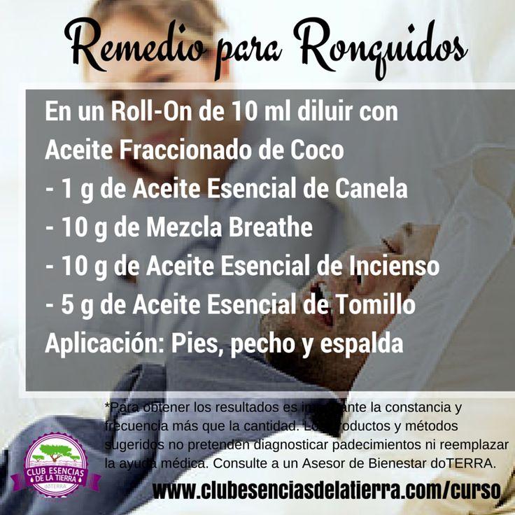 Remedio y Receta para Ronquidos con Aceites Esenciales #doterra…