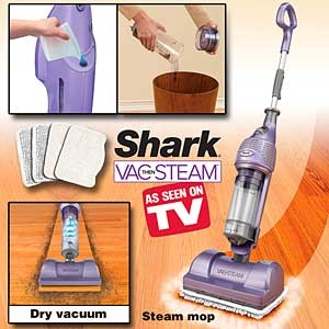 The Shark Vac Then Steam Mop Vacuums Up The Dirt And Dust