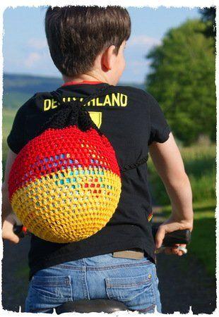 Wm Fußballnetz Rucksack Häkeln Ballnetz Fußball Deutschland Aakw