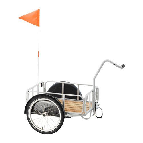 160€ - IKEA - SLADDA, Fietskar, Perfect voor het transporteren van het meeste, van kleren en voedsel tot spullen voor afvalscheiding.Eenvoudig om te bouwen tot handkar.