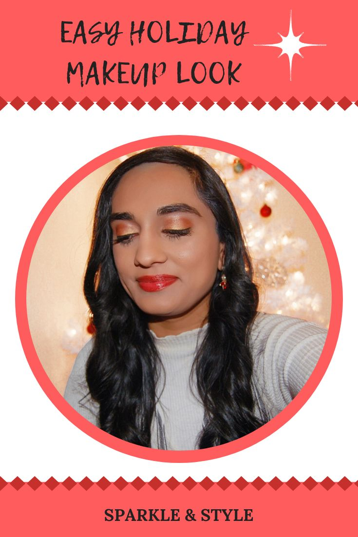 Easy Holiday Makeup Look – Sparkle & Style