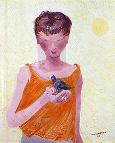 Boy(1950) - Oil on Canvas - Candido Portinari.