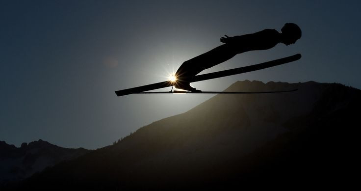 Swiss Simon Ammann soars through the air during his training jump of the ski jumping event in Oberstdorf, southern Germany, which is the first station of the Four-Hills Ski Jumping tournament (Vierschanzentournee), on December 30, 2016. The first...