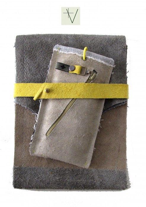 iphone ipad mini cover set design gray beige yellow