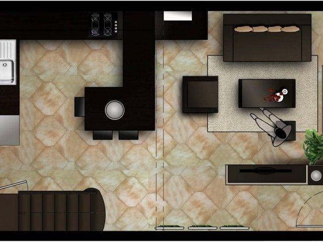 43 best idees cuisine images on Pinterest Kitchen modern, Kitchen - cuisine ouverte sur salon m