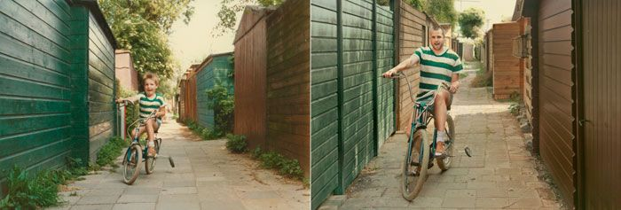 irina werning - photographer who recreates photos of people from their past - back to the future series II