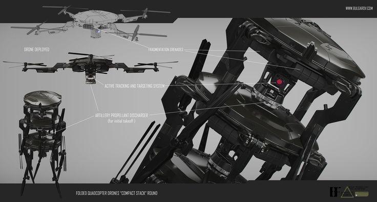 Drone Design Ideas Black Widow Tank Tactical Quadcopter