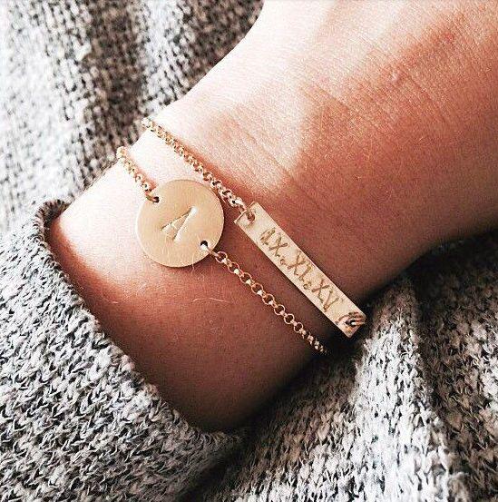 nashelle initial bracelet