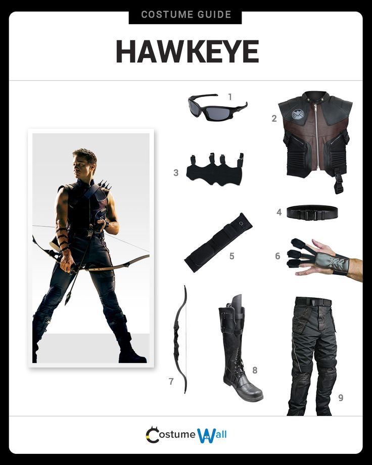 Dress like Hawkeye from the hit Marvel movie, The Avengers. Get cosplay inspiration and more Hawkeye costume ideas.
