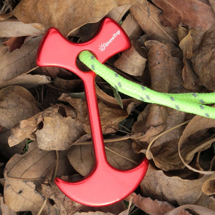 Fishbone Tent Peg Rope Buckle Outdoor Camping Aluminum Alloy Tent Nail Floor Ground Tent Building Tool Travel Accessories