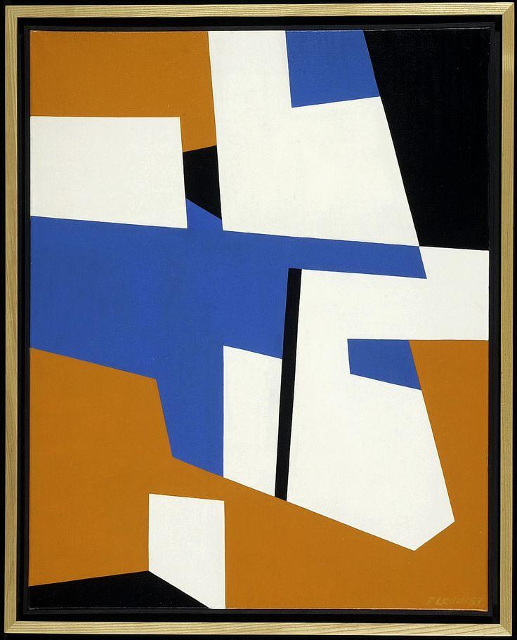 Fernand Leduc, Et la lumière fut, 1957, huile sur toile, 100 x 80 cm