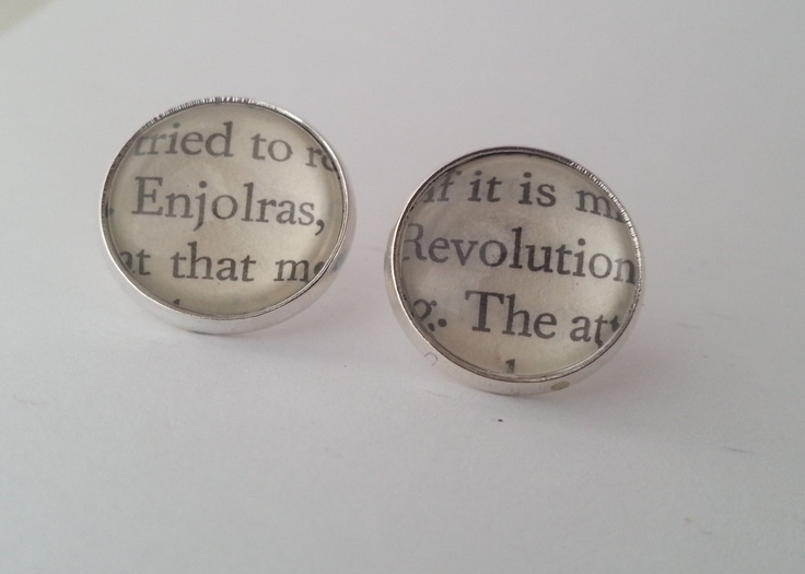 Les Miserables Enjolras Book Page Stud by GlamorousGlueDesigns, $14.50