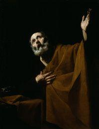 Jusepe de Ribera Spanish, 1588–1652  Penitent Saint Peter, 1628/32  Oil on canvas 49 3/4 x 38 1/4 in. (126.5 x 97 cm)