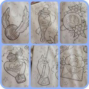 Harry Potter Flash-Sheet. Besorgen Sie sich einen dieser kleinen Patches! #dustnbonestattoo #tattoo #tattoopatch …