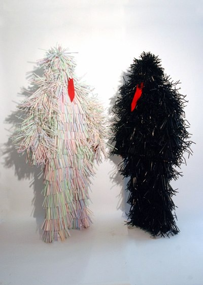 Straw xreatures  Matthew Cowan, Devil of the Day & Devil of the Night, 2011