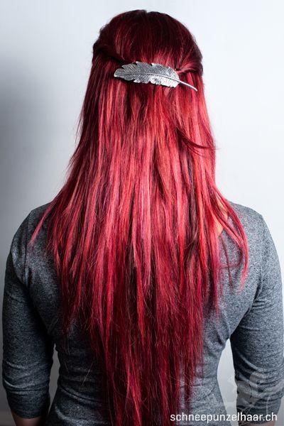 Bunte Farben - SchneePunzel - professionelle Haarverlängerungen und Dreadlocks