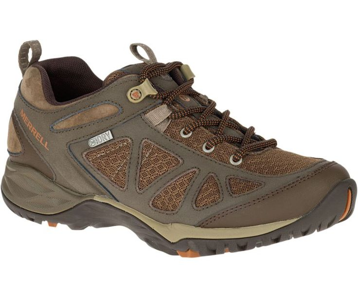 Shoes Outlet - Hi-Tec Sport Trail Tan Womens Leather Hiking Shoes US Size 10