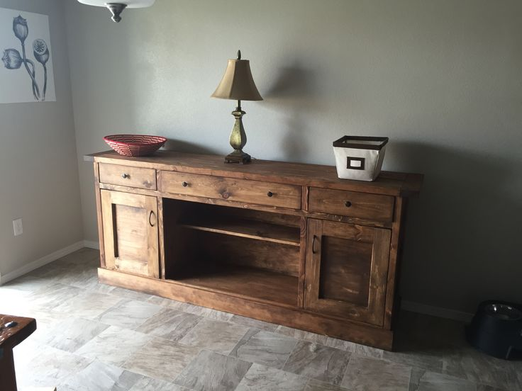 ana white modified planked wood sideboard diy projects