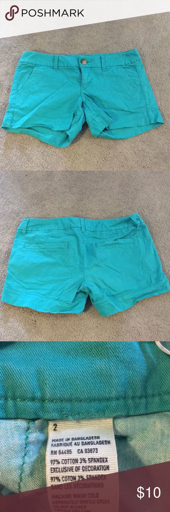 American Eagle super stretch teal shorts Very comfortable teal shorts American Eagle Outfitters Shorts
