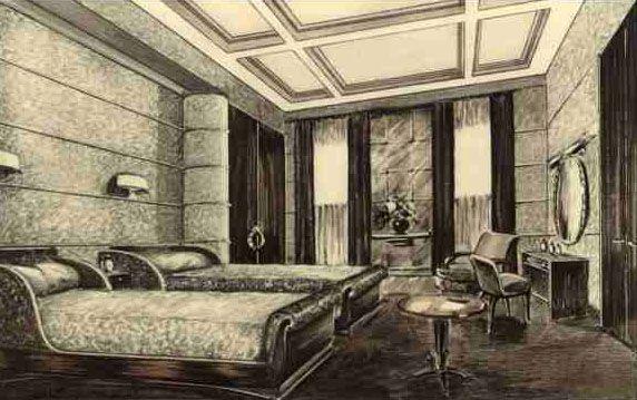 Les 193 meilleures images du tableau art d co paul iribe for Appartement deco bateau