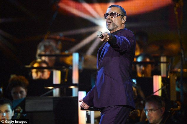 On stage: George on his Symphonica tour back in 2012