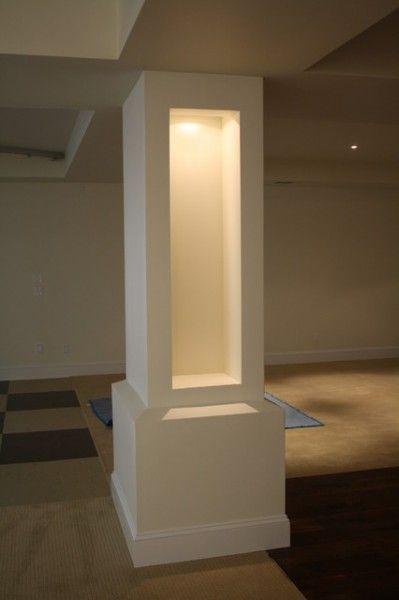 Marvelous Basement Support Post Cover #9 Cover Basement Support Pole Column