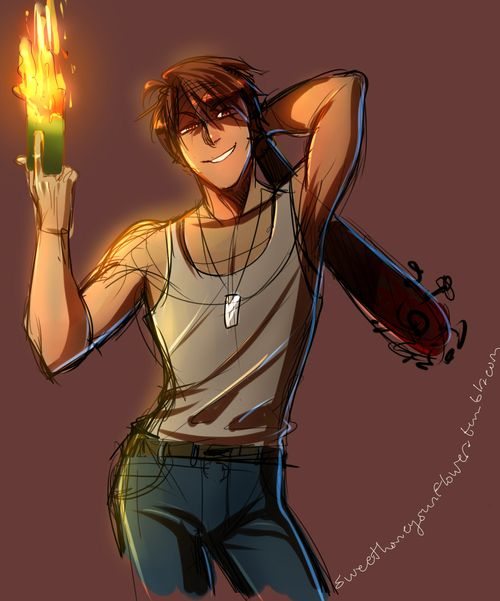 Allen... Be careful with the fire...< Yeah, you're already as hot as it is....did I say that...