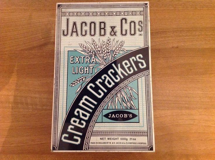 JACOB & COs CREAM CRACKER TIN-VINTAGE - RARE FIND | eBay