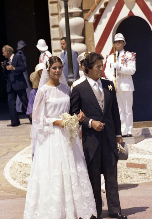 Philippe Junot y Carolina de Mónaco. 12 matrimonios rotos por la Rota